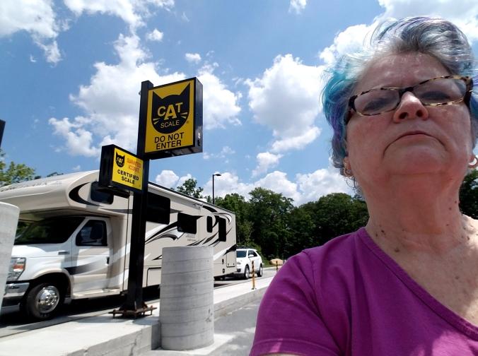 Grandma selfie weigh-in